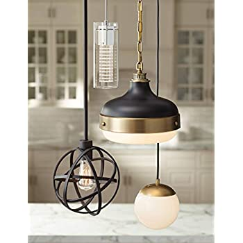 "Industrial Atom 8"" Wide LED Edison Bulb Mini-Pendant Light - Franklin Iron Works"