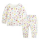 JIEYA Baby Girls Kids Children Printed Pajamas Set Long Sleeve Sleepwear