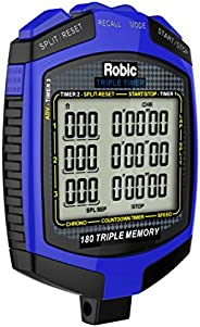 Robic Double or Triple Timer, Blue/Black
