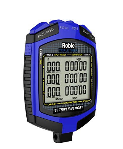 (Robic Double or Triple Timer, Blue/Black)