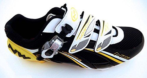 Northwave - Zapatillas de ciclismo para hombre multicolor - Black / Yellow