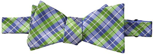 Countess Mara Men's Bodden Plaid and Dot Self Reversible Bow Tie, Green, One Size ()