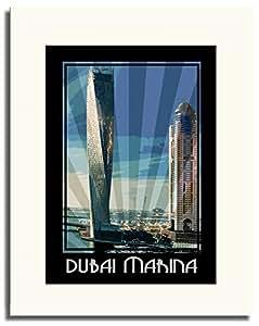 Dubai Marina- Colour F05-nm (a2) - Framed