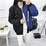 Fashion Baseball Jacket Patchwork Casual Style Loose Oversize Coat Long Sleeved Zipper Comfortable Sport Woman Overcoat