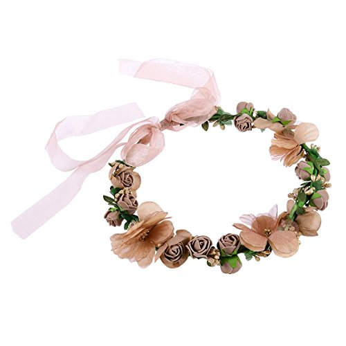 WINOMO Women Girls Flower Headbands Crown Wedding Bridal