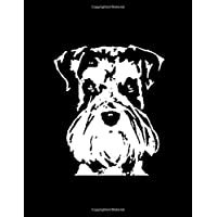 "Schnauzer Notebook: Black & White Pop Art Dog Face 150 Page 8.5 x 11"" Lined Journal Book for Schnauzer Lovers and Owners"