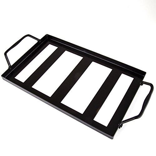 Zenware 12'' x 8'' x 2'' Natural Himalayan Block Cooking Salt Plate & Holder Set - Black by Zenware (Image #3)'