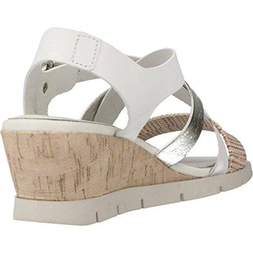 Sandalias y chanclas para mujer, color Blanco , marca HISPANITAS, modelo Sandalias Y Chanclas Para Mujer HISPANITAS FLAT CROSSOVER G Blanco Blanco