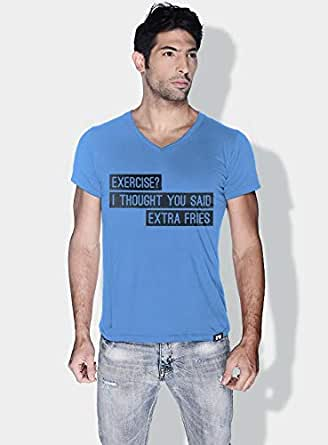 Creo Exercise Funny T-Shirts For Men - S, Blue