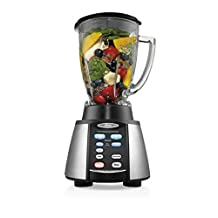 Oster BVCB07-Z00-000 6-Cup Glass Jar 7-Speed Blender, Brushed Stainless/Black