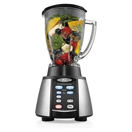 1. Oster Reverse Crush Counterforms Blender, with 6-Cup Glass Jar, 7-Speed