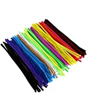 VORCOOL 200 Pcs Pipe Cleaners Craft Supplies Chenille Stem Assorted Colors 6x300mm Creativity Developing Kids DIY Toys Party