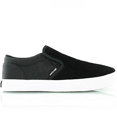 Supra Cuba Black/White/Suede Sneaker Men's 8, Women's 9.5 D – Medium