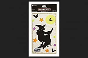 "Impact Innovations Halloween Gel Clings fantasma negro 6 ""x 12"""