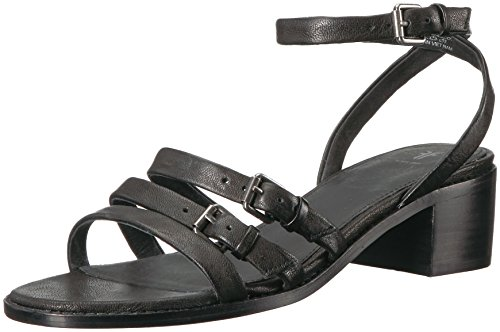 Women's Frye Cindy Buckle Black Heeled Sandal 4Hq10Hx