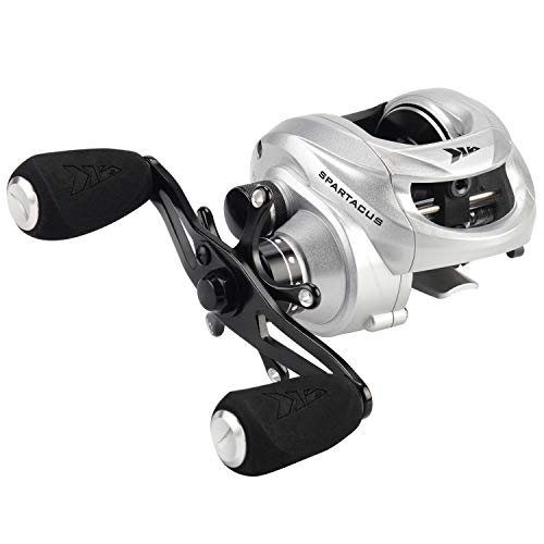 (KastKing Spartacus Baitcasting Fishing Reel,Sword Silver,Right Handed Reel)