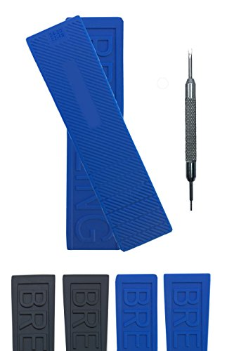 Strap Breitling Rubber (Rubber Watch Strap Band for Breitling Diver Pro III | Free Spring Bar Tool (22mm, Blue))