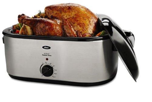 Oster CKSTRS23 22-Quart Roaster Oven, Stainless Steel