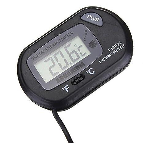 Hosaire Termómetro de Agua Digital LCD Tanque de Peces para el terrario Acuario Vivarium -50 ~ + 70 ℃