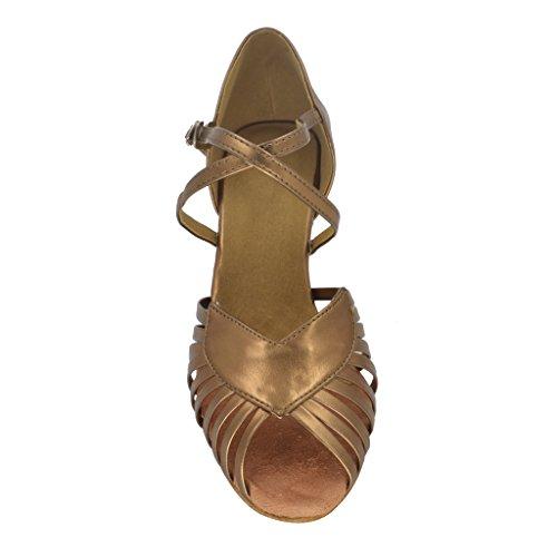 misu , Damen Tanzschuhe Braun Bronze