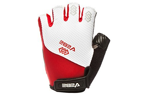 Summer Colours - VEBE Mulit-functional Cycling Gloves Biking Bicycle Half Finger and Anti-slip Glove for Men & Women Hiking Riding Summer Sport,Color Red,Palm Width about 8.5-9.5 CM