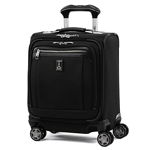 "Travelpro Luggage Platinum Elite 16"" Carry-on Spinner Tote with USB Port, Shadow Black"