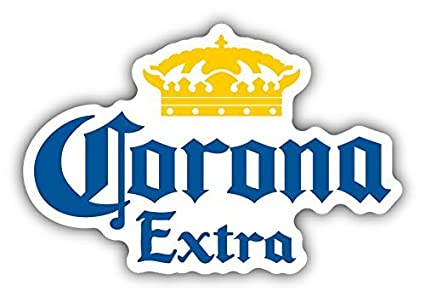 amazon com corona extra mexican beer car bumper sticker decal 5 x rh amazon com corona light logo vector corona light logo animal