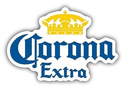 amazon com corona extra mexican beer car bumper sticker decal 5 x rh amazon com
