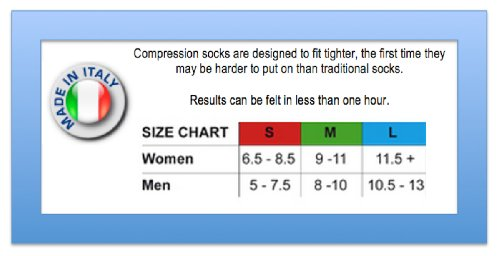 Travelsox Odissey Flight OTC Support Compression Travel Recovery Socks,TS5000, Black, Medium by Vitalsox (Image #4)