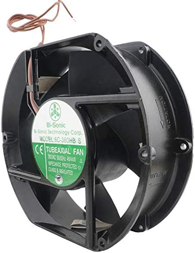 172x51mm 6C-380HB S Ball 380V 50//60Hz 46//44W 2Wire 2750//3100RPM 176//211.7CFM 54.5//57.5dBA 3P Industrial FanTubeaxial Fan,6C-380HB-S Class B Insulated AC Fan