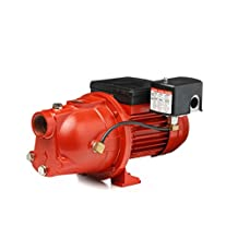 Red Lion 97080701 Cast Iron 3/4-HP 13-GPM Shallow Well Jet Pump, Red