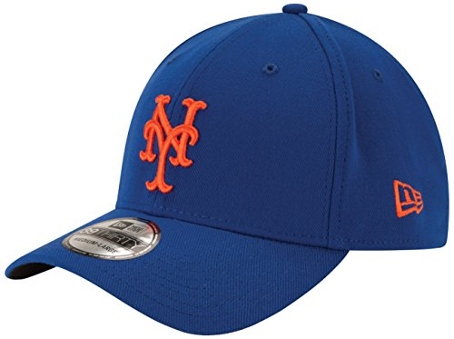 MLB New York Mets Team Classic Game 39Thirty Stretch Fit Cap, Blue, ()