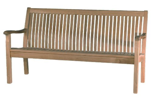 Antonini Outdoor Teak 3 Seat Bench, 62.5 by 23.25 by 37.4-Inch 3 Seat Teak Bench
