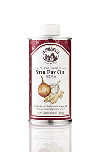 La Tourangelle Pan Asian Stir Fry Oil 16.9 Fl. Oz, Subtle Flavors of Stir Fried Onions Garlic and Ginger, Expeller-pressed, Great for Curries and Stir-Fries