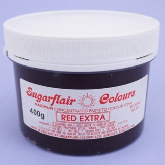 Red extra 400g pot Sugarflair Spectral Concentrated Paste Food ...