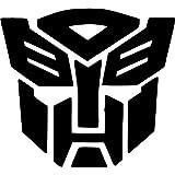 StickerStop Autocollant de voiture Transformers Autobot, noir, lot de 2
