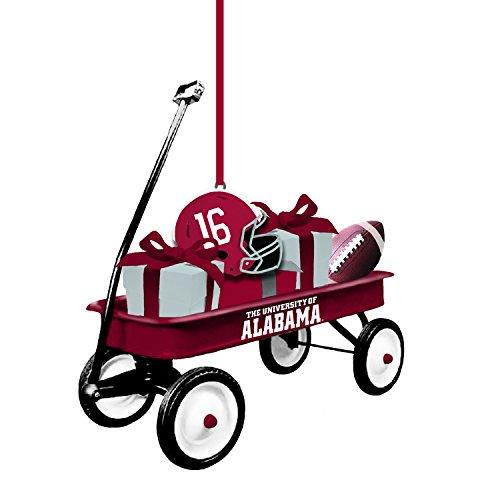 Team Sports America Alabama Team Wagon Ornament (Alabama Crimson Tide Santa)