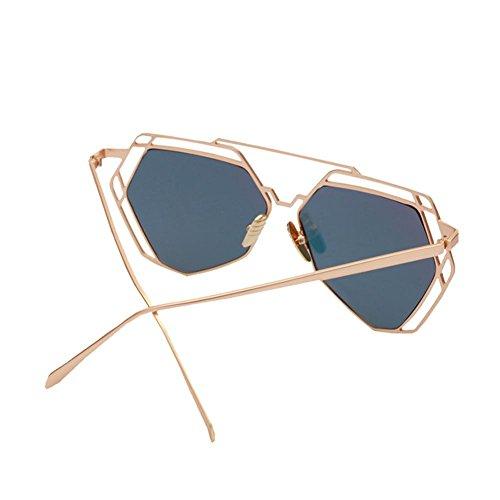 Z&YQ Lunettes de soleil marée mode hommes et femmes lunettes personnalité boîte , sakura powder
