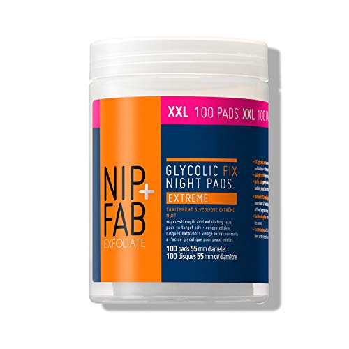 Nip + Fab Glycolic Fix Night Pads Extreme, Supersize, 100 Pads, 4.56 Fluid Ounce