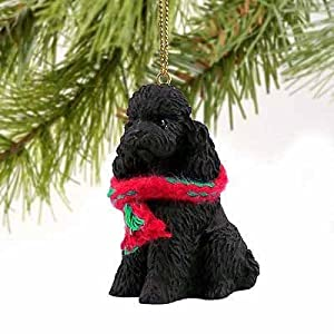 Poodle Sportcut Miniature Dog Ornament - Black 29