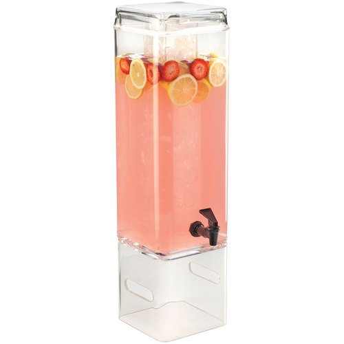Cal-Mil 1112-3AH Beverage Dispenser with Ice Chamber and Handle, Square, 26.5