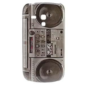 ZXM-Grabadora Retro Style Pattern Hard Case for Samsung Galaxy S3 Mini I8190