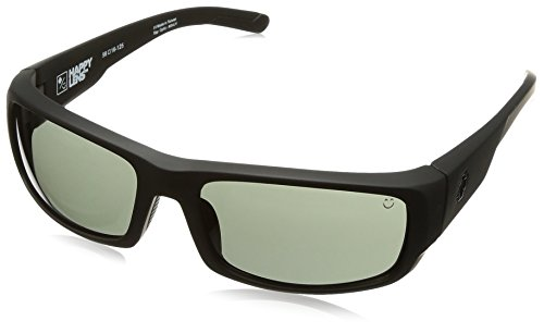 Spy Optic Caliber Shield Sunglasses, Soft Matte Black/Happy Gray/Green, 59 mm