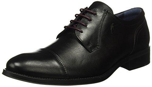 Fluchos- retail ES Spain Herren Heracles 8412 Derby-Schuhe Schwarz (Memory Negro Negro)