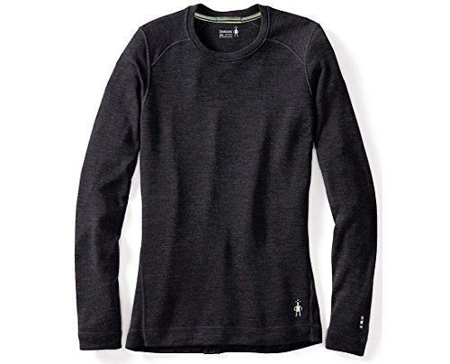 Underwear Smartwool Long (SmartWool Women's NTS Mid 250 Crew Top Charcoal Heather T-Shirt SM)