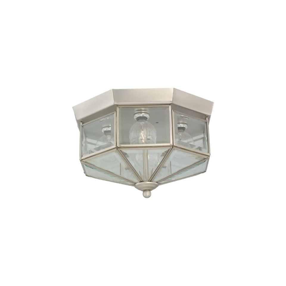 Sea Gull Lighting 7662 962 4 Light Hall and Foyer Ceiling Fixture, Clear Beveled Glass Panels and Brushed Nickel