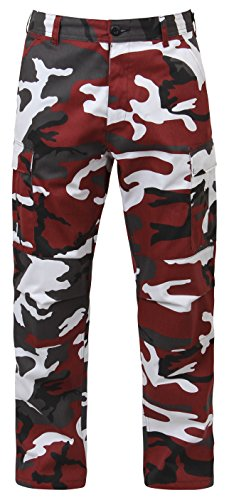 Rothco Bdu Pant Red Camo, Small