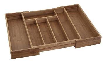 Kast Met Planken : Erweiterbarer besteck kasten aus bambus amazon küche haushalt