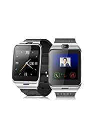 Zibo A18 Bluetooth 3.0 Waterproof SmartWatch Support IOS/Android Smartphone & Tablet PC (Silver)