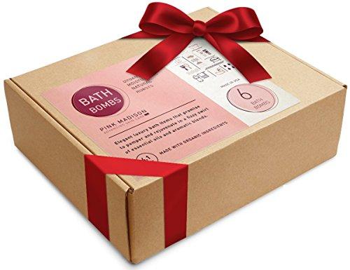 Coffret de bain bombes 6 Pack Ultra bain luxuriante Fizzes USA préparés avec des ingrédients naturels biologiques avec du beurre de karité et des huiles aromatiques pour hydrater la peau sèche.